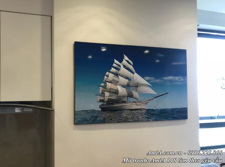 Tranh thuận buồm xuôi gió làm theo yêu cầu tại AmiA