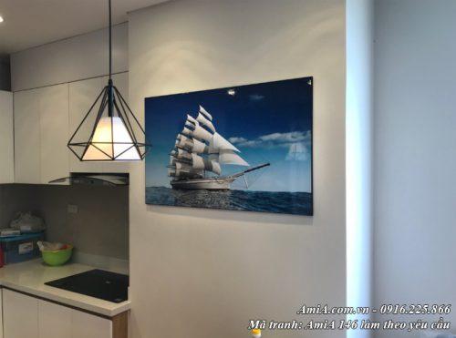 Tranh treo tường thực tế thuyền buồm doanh nhân AmiA 146