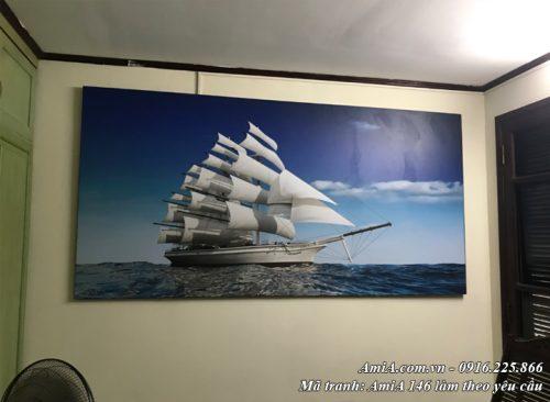 Hình ảnh tranh amia 146 treo phòng làm việc thuận buồm xuôi gió may mắn