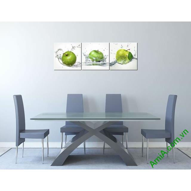 Tranh ghép treo tường phòng ăn quả táo Amia 309-00