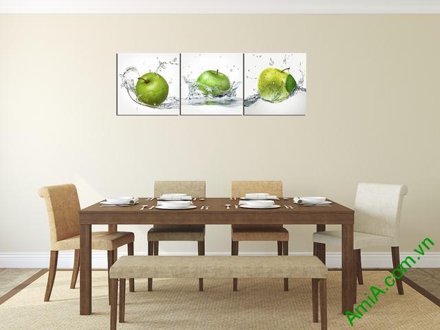 Tranh ghép treo tường phòng ăn quả táo Amia 309-01