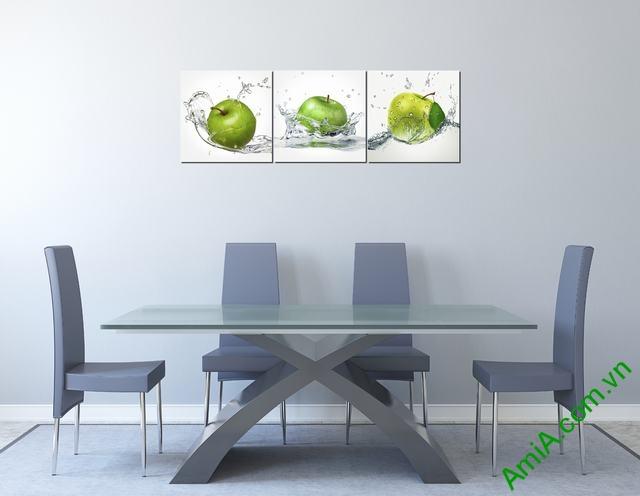 Tranh ghép treo tường phòng ăn quả táo Amia 309-02