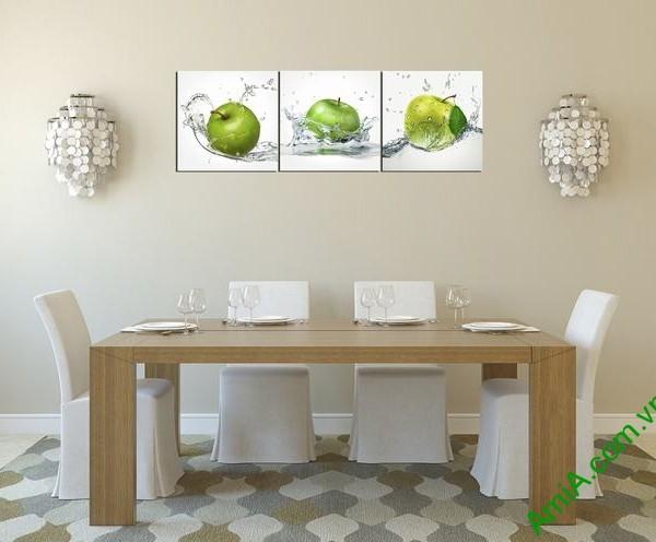 Tranh ghép treo tường phòng ăn quả táo Amia 309