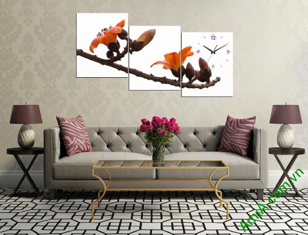 Tranh treo tường Hoa Gạo ghép nghệ thuật Amia263