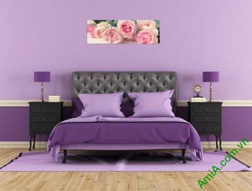 Tranh treo tường ghép bộ phòng ngủ amia 285-01