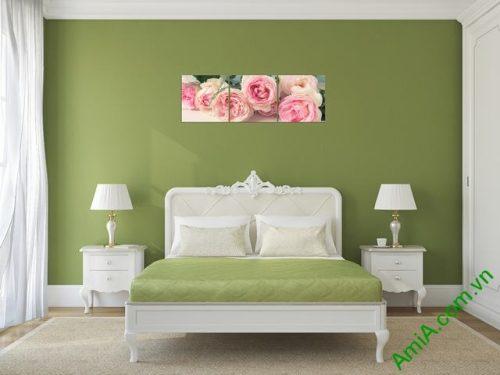 Tranh treo tường ghép bộ phòng ngủ amia 285-02