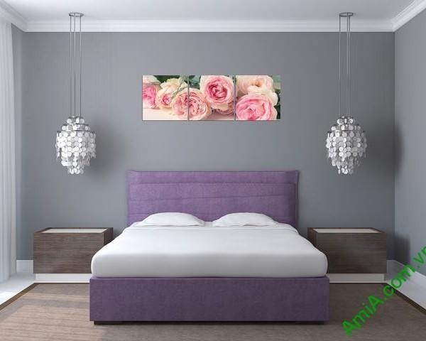Tranh treo tường ghép bộ phòng ngủ amia 285-03