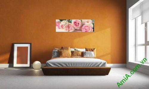 Tranh treo tường ghép bộ phòng ngủ amia 285-04