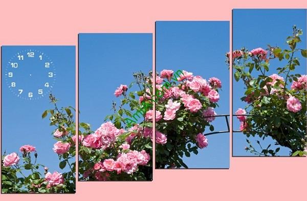 Tranh treo tường ghép nhiều tấm hoa hồng