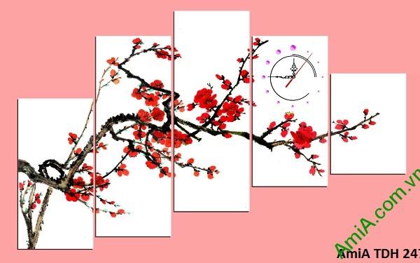 Tranh treo tường Hoa Đào ngày Tết Amia247