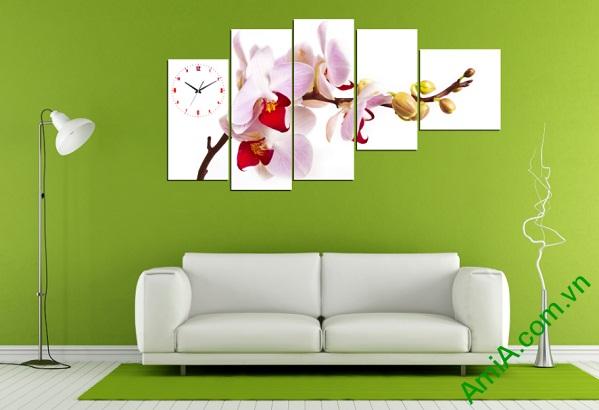 Tranh hiện đại treo tường hoa Phong Lan Amia 246