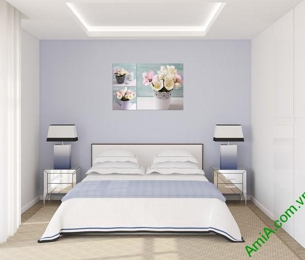 Tranh treo tường phòng ngủ Bình hoa Tulip Amia 289-01