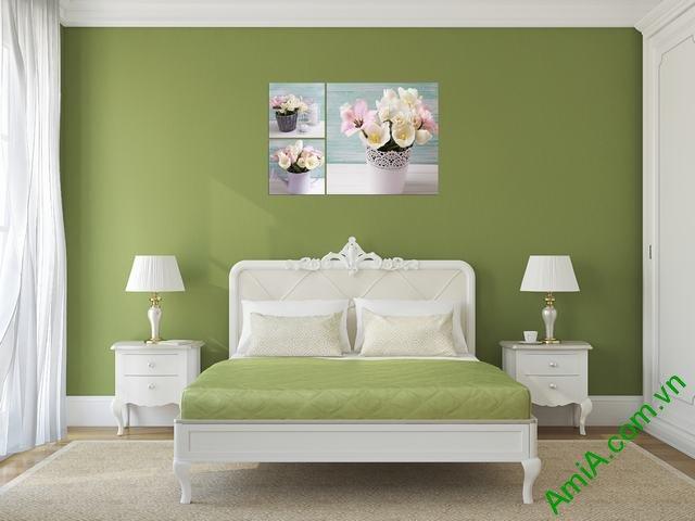 Tranh treo tường phòng ngủ Bình hoa Tulip Amia 289-02