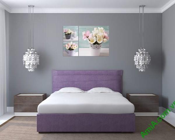 Tranh treo tường phòng ngủ Bình hoa Tulip Amia 289-03