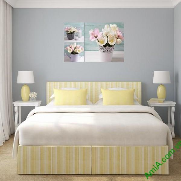 Tranh treo tường phòng ngủ Bình hoa Tulip Amia 289-04