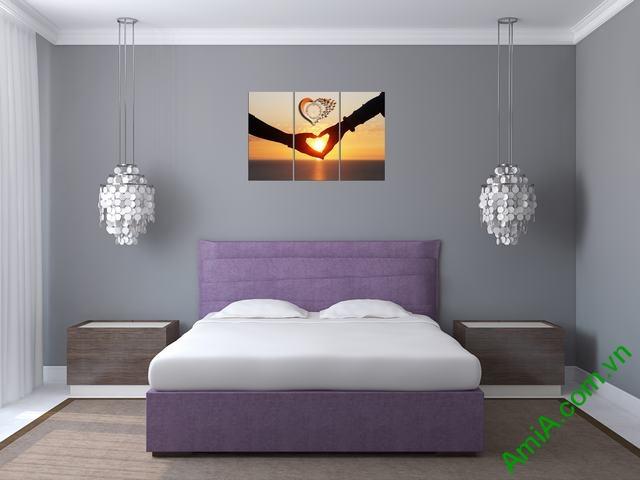 Tranh treo tường phòng ngủ Amia 329-04