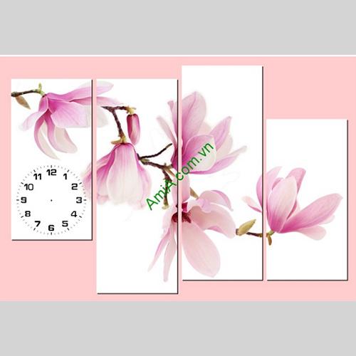Tranh hoa moc lan AmiA 217 treo tuong phong khach phong ngu