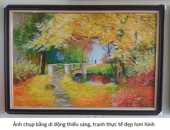Tranh sơn dầu treo tường phong cảnh mùa thu