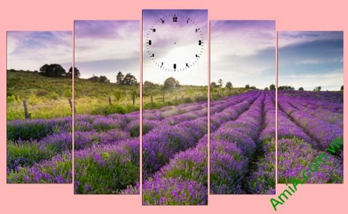 Tranh treo tường khổ lớn đồng hoa oải hương Amia 269