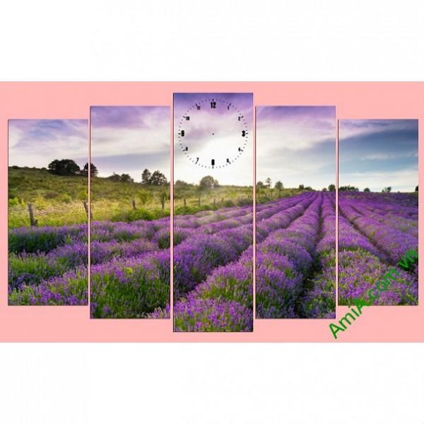 Tranh treo tường khổ lớn đồng hoa oải hương Amia0 269