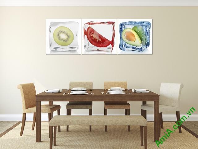 Tranh treo tường phòng ăn quả ướp đá Amia 308-01