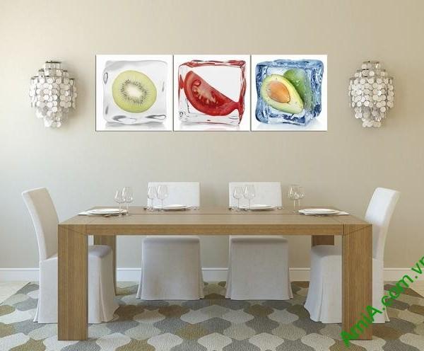 Tranh bộ treo tường phòng ăn quả ướp đá Amia 308-02