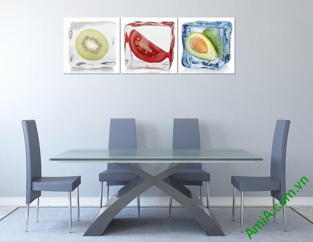 Tranh treo tường phòng ăn quả ướp đá Amia 308