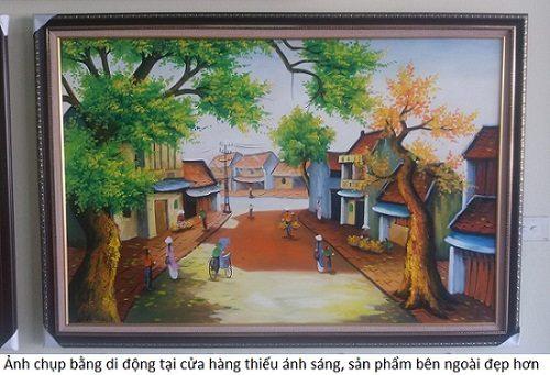 Tranh treo tường sơn dầu Phố Cổ