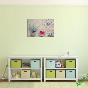 Tranh đồng hồ treo tường phòng trẻ em Amia 319-01