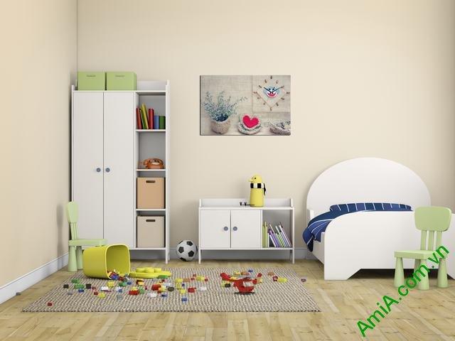 Tranh đồng hồ treo tường phòng trẻ em Amia 319-02