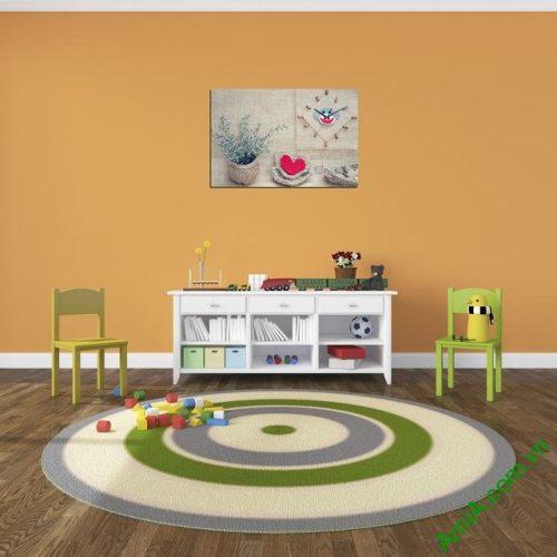 Tranh đồng hồ treo tường phòng trẻ em Amia 319-03