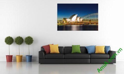 Tranh hiện đại treo tường cầu cảng Sydney Amia 355-01