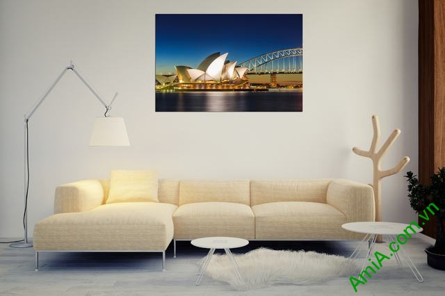 Tranh hiện đại treo tường cầu cảng Sydney Amia 355-02