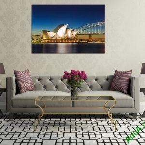 Tranh hiện đại treo tường cầu cảng Sydney Amia 355-03