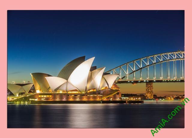 Tranh hiện đại treo tường cầu cảng Sydney Amia 355