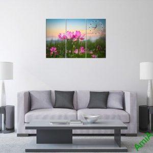 Tranh hiện đại treo tường hoa sen Amia 297-02