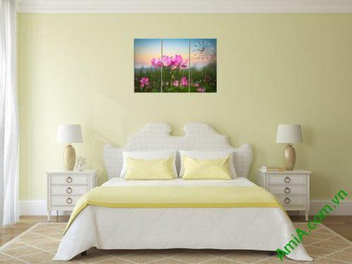 Tranh hiện đại treo tường hoa sen Amia 297-03