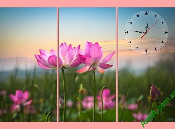 Tranh hiện đại treo tường hoa sen Amia 297