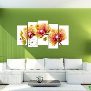 Tranh hoa lan treo tường phòng khách sang trọng Amia 389-02