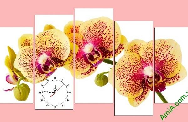 Tranh hoa lan treo tường phòng khách sang trọng Amia 389