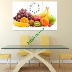 Tranh hoa quả treo tường phòng ăn hiện đại Amia 149-01