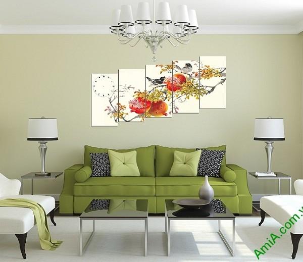 Tranh phong cảnh mùa xuân treo tường phòng khách-01
