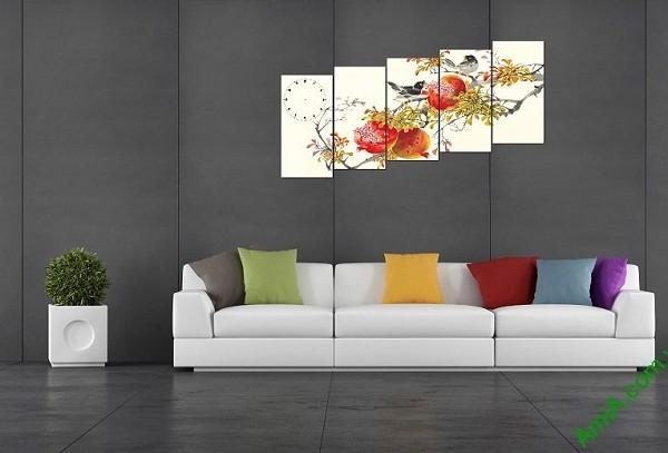 Tranh phong cảnh mùa xuân treo tường phòng khách-03