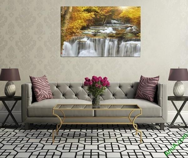 Tranh treo tường phòng khách một tấm thác nước amia 383-02