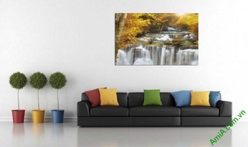 Tranh treo tường phòng khách một tấm thác nước amia 383-03