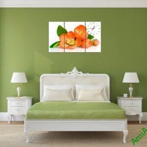 Tranh treo tường phòng khách, phòng ngủ hoa trà amia 387-03