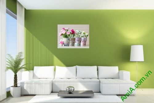 Tranh treo tường phòng khách tứ bình 1 tấm amia 353-01