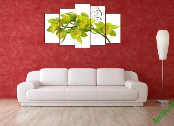 Tranh ghép treo tường phòng khách hoa lan amia 392-03