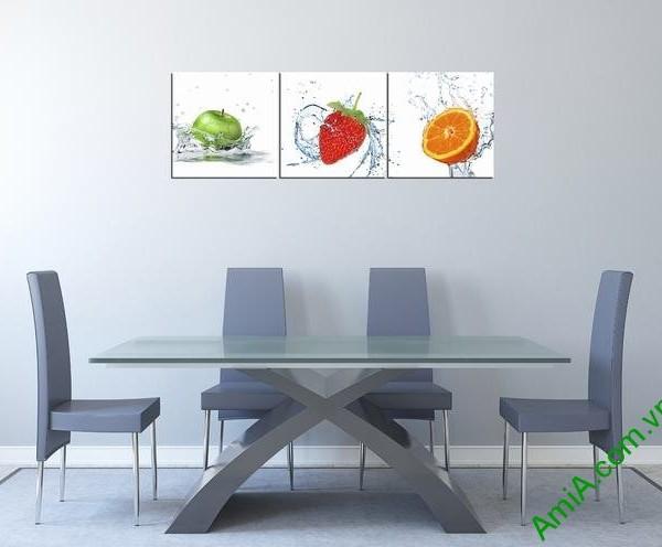 Tranh hoa quả treo tường phòng ăn hiện đại amia 314-01