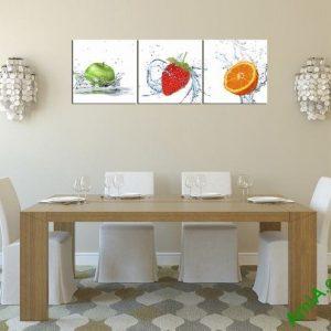 Tranh hoa quả treo tường phòng ăn hiện đại amia 314-02